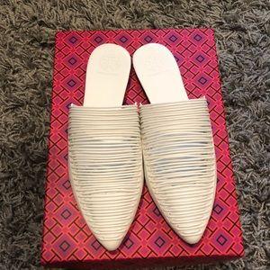 NWT, Tory Burch Sienna Flat Slide White Size 5.5